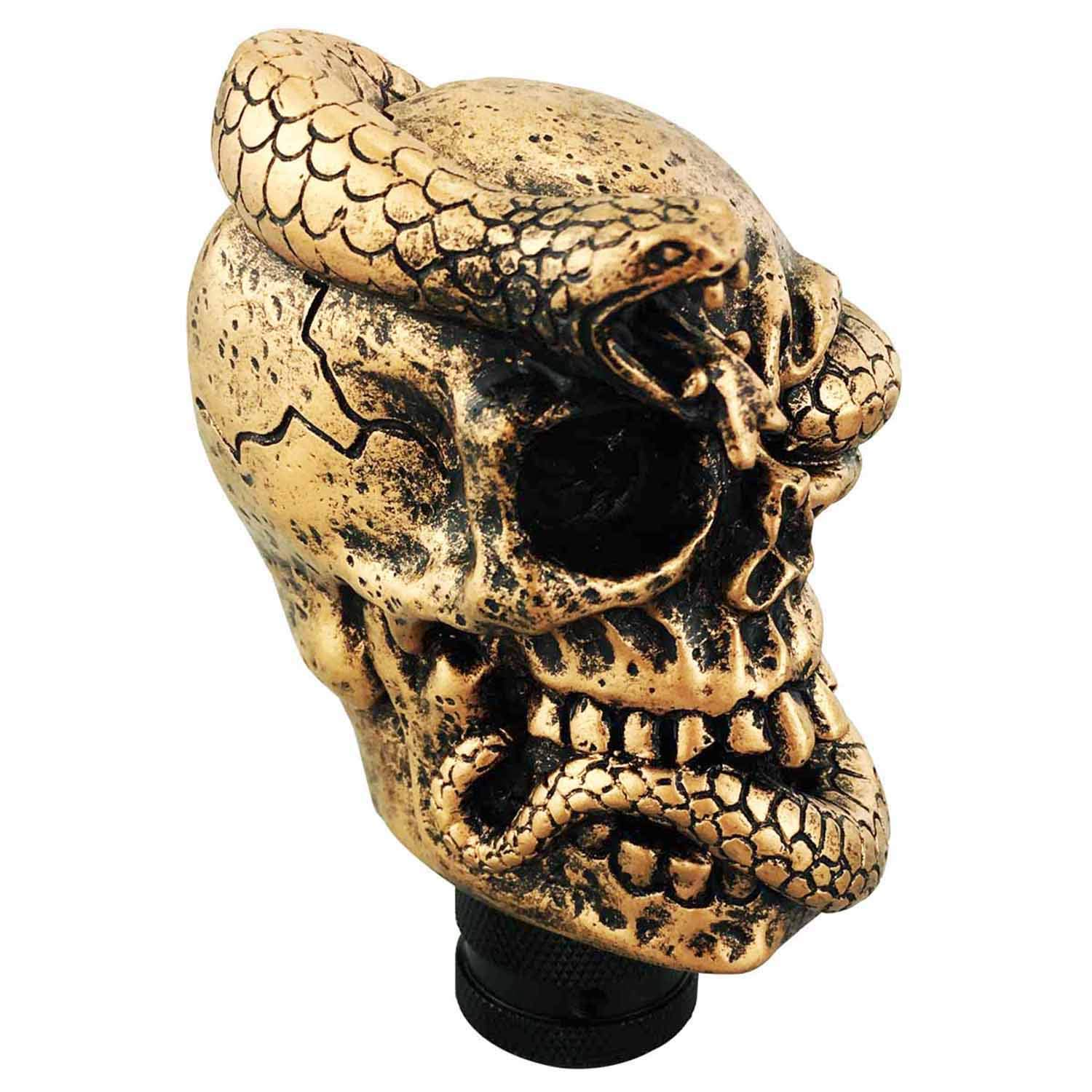 Black Abfer Car Shift Knob Cool Skull Gear Stick Shifter Knobs Fit Most Universal Automatic Vehicle