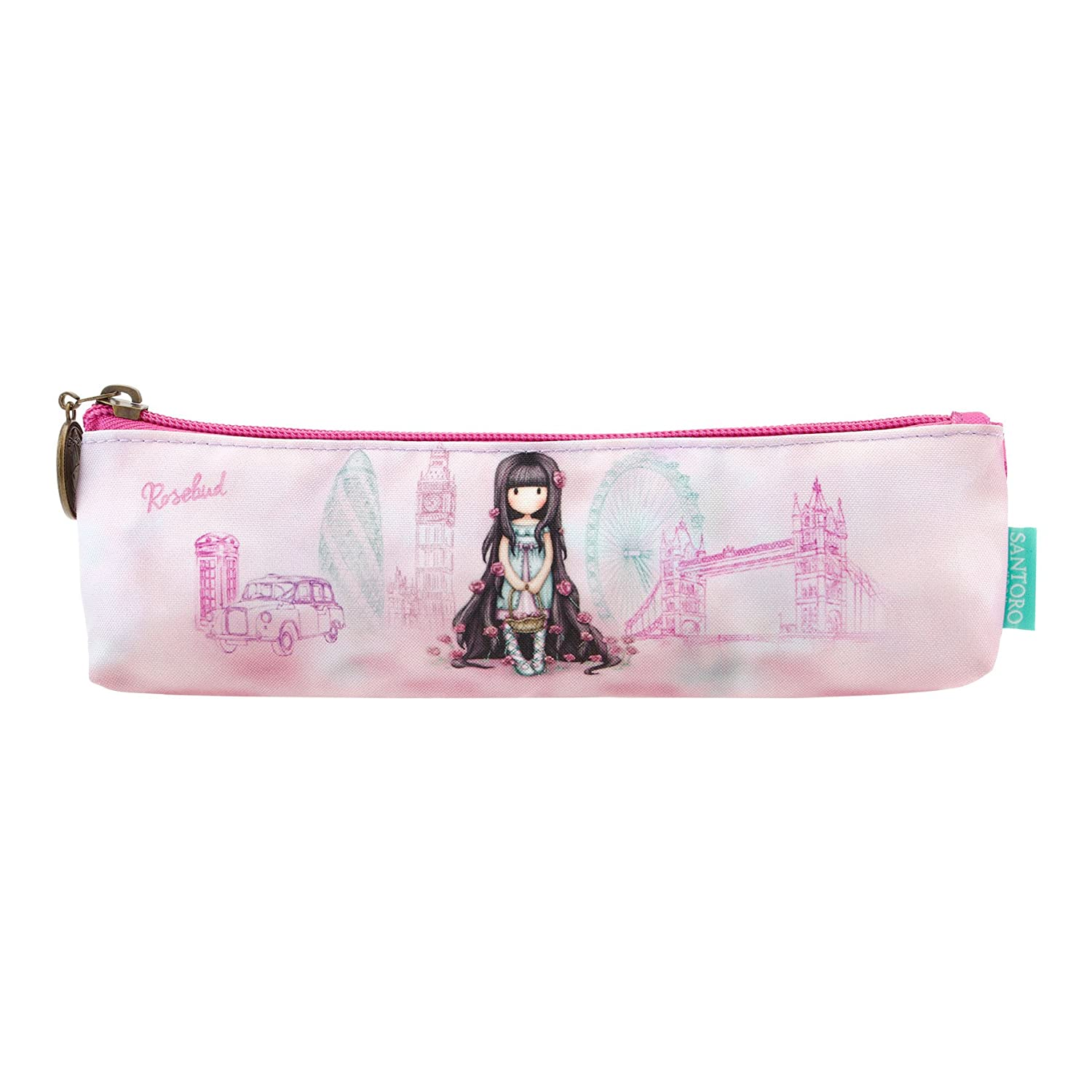 Gorjuss Cityscape Rosebud Pencil Case: Amazon.es: Hogar
