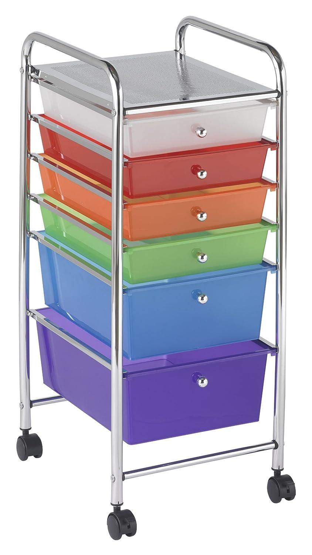Amazon.com: ECR4Kids 6 Drawer Mobile Organizer, Assorted Colors: Toys U0026  Games