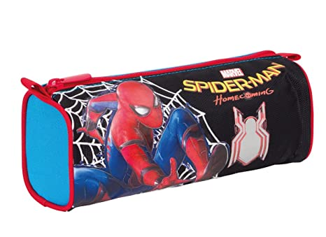 Estuche Escolar - Marvel Spiderman Homecoming- Negro Azul ...