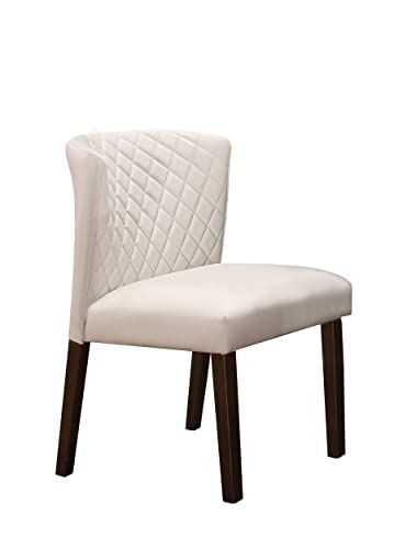 Homelegance Nelina Two-Pack Upholstered Dining Chairs, Off-White