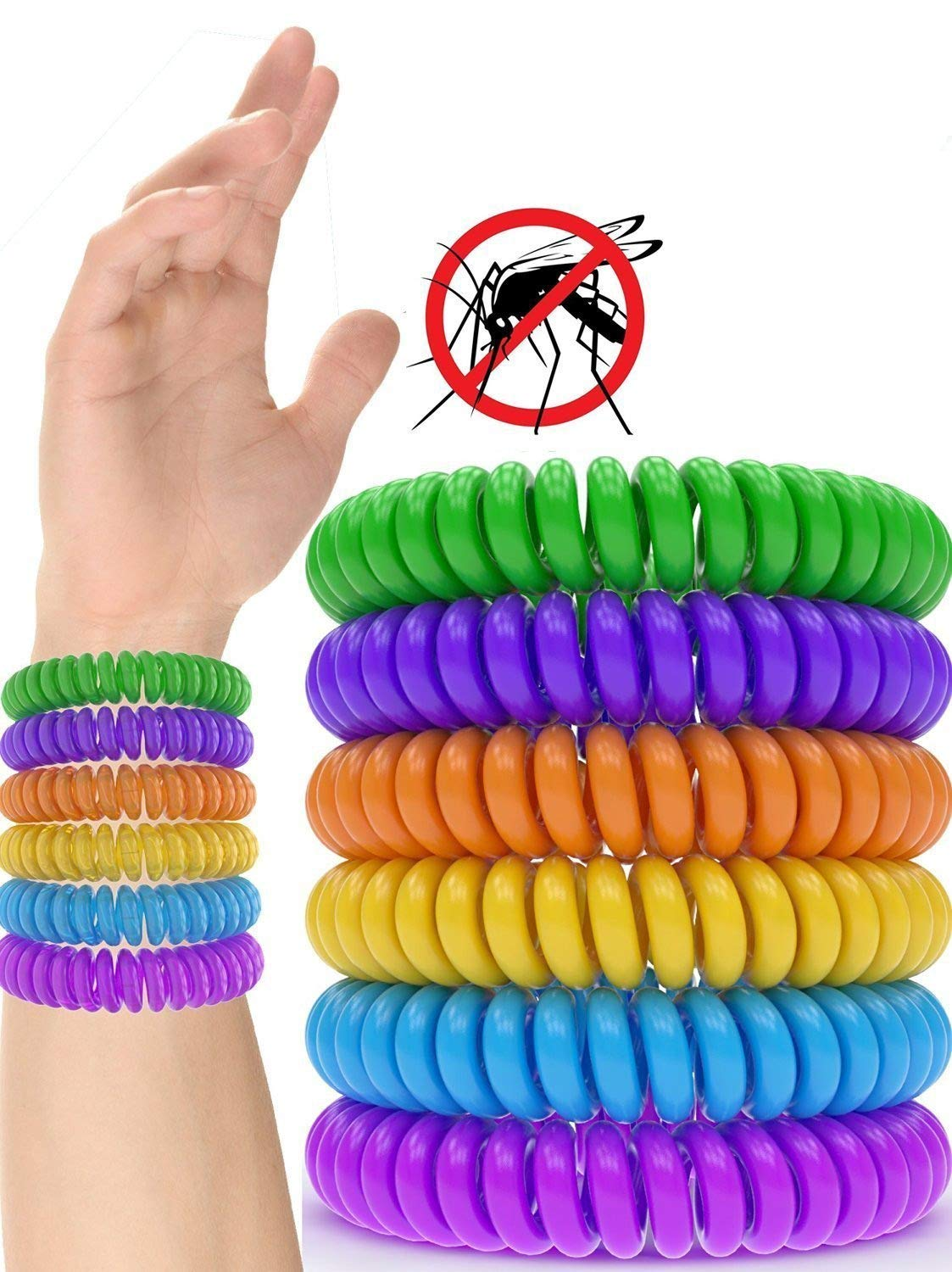 Zekpro 12 Pack Mosquito Repellent Bracelet Band - [320Hrs of Protection] Pest Control Insect Bug Repeller - Natural Indoor/Outdoor Insects - Best Products