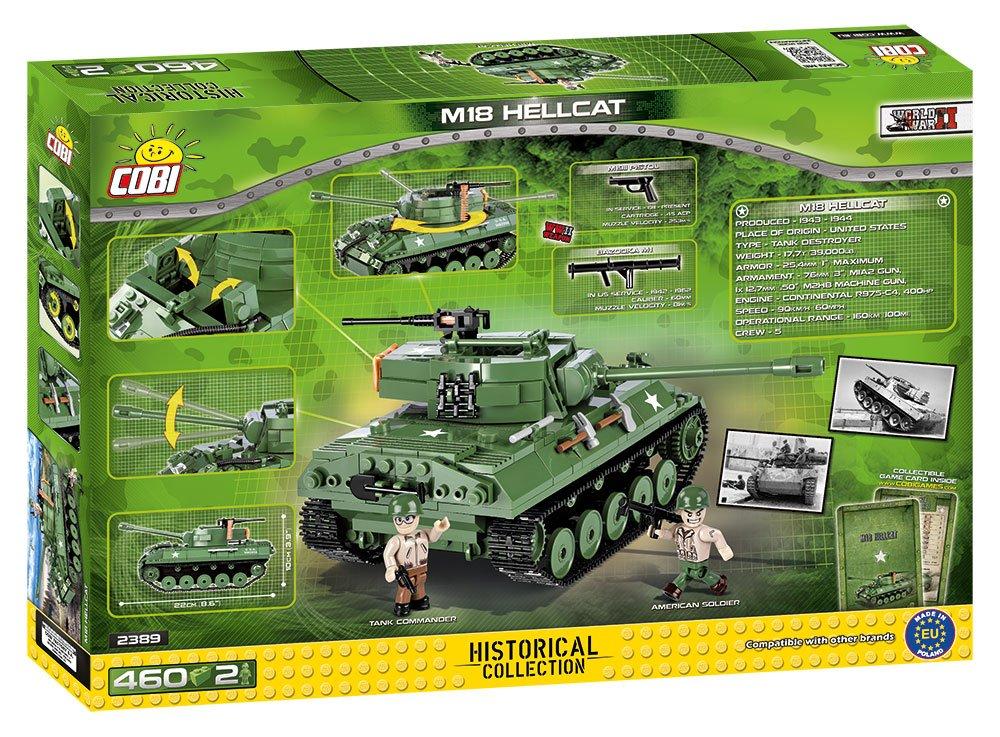 465 pcs bricks WWII American Tank Destroyer Small Army COBI M18 Hellcat 3006