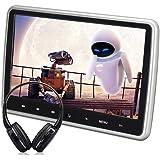 WZMIRAI 10,1'' Ultra Thin HD 1080P Digital TFT LCD grand écran Portable Headrest Lecteur DVD Multimédia Entertainment Mobile Headrest Monitor avec port HDMI télécommande sans fil casque infrarouge