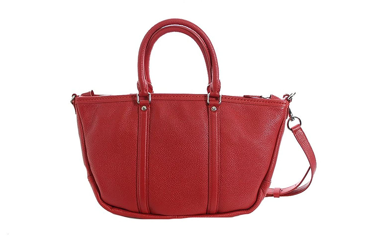 6ee5fe3661 Amazon.com  COACH Women s Pebbled Small Coach Central Satchel Sv True Red  Handbag  Shoes