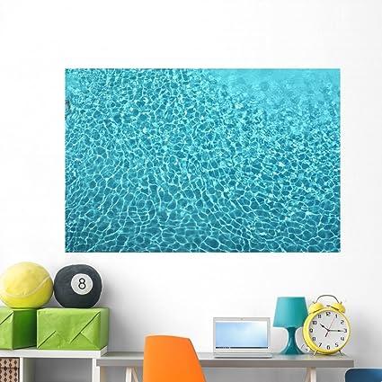 Amazon.com: Wallmonkeys Swimming Pool Water Texture Wall Decal Peel ...