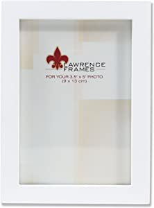 Lawrence Frames Standard Wood Luxury Frame, 3.5 by 5-Inch, White