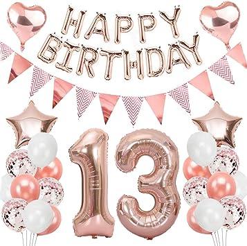 Geburtstagsdeko für Mädchen Rose Gold Geburtstag Party Dekorationen Mädchen
