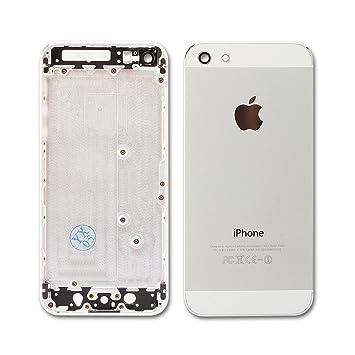 Carcasa trasera tapa Chasis para iPhone 5S blanca plata ...