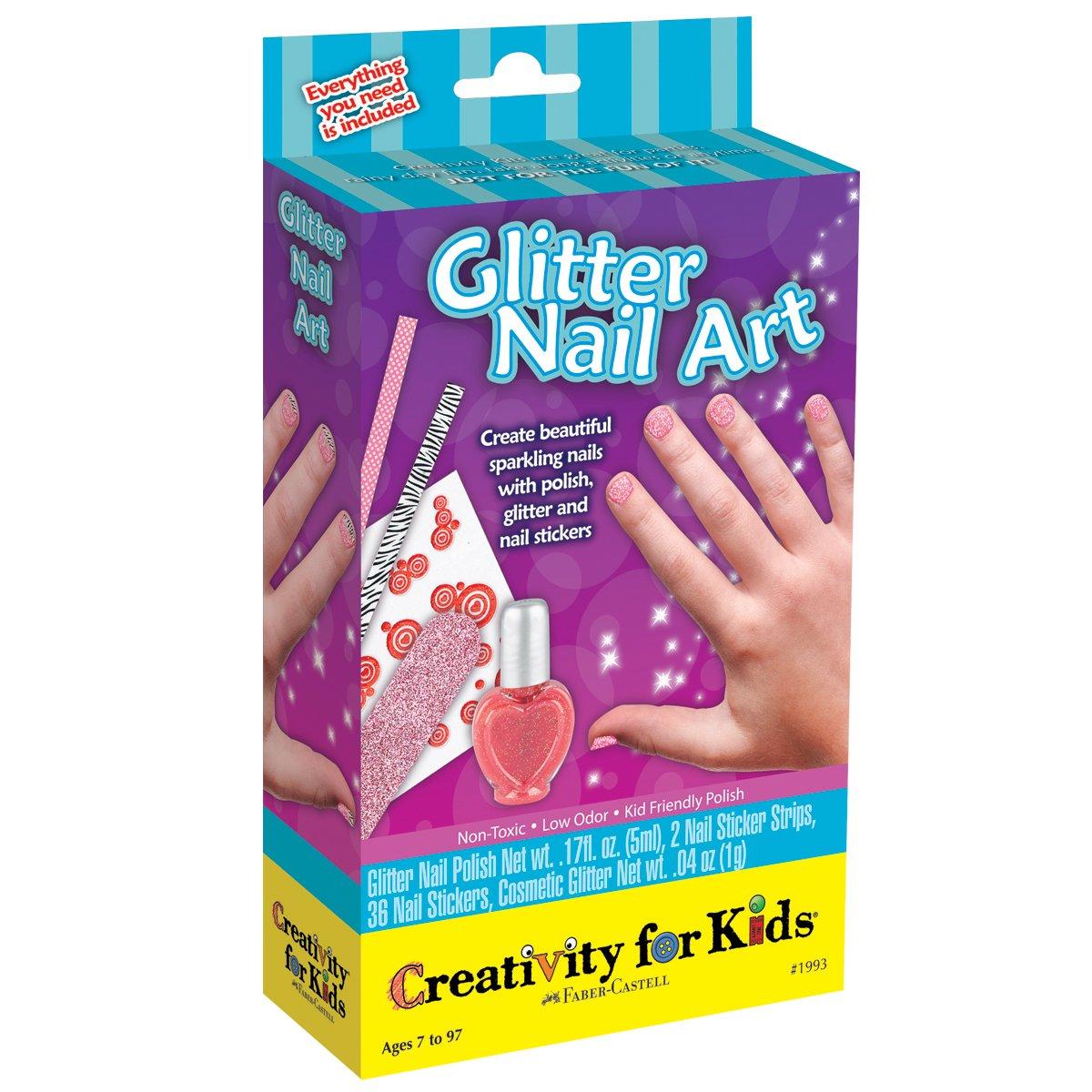 Amazon.com: Creativity for Kids Glitter Nail Art Mini Kit: Toys & Games