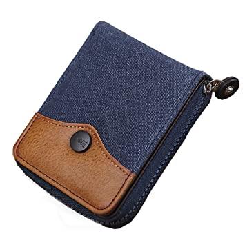 RETON Men Quality Denim Canvas Wallet Double Large Capacity ...