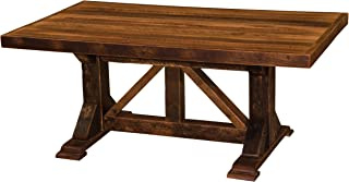 product image for Barnwood Homestead Dining Table - Custom Top - Antique Oak Barn Wood
