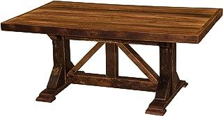 product image for Barnwood Homestead Dining Table - Custom Top - Antique Oak Barn Wood