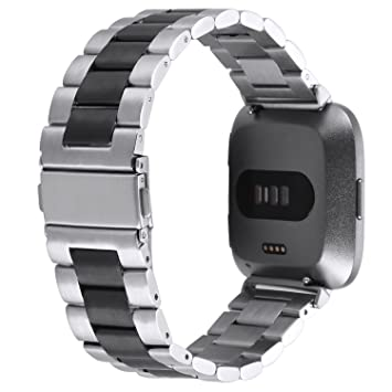 Banda de reloj para Fitbit Versa Straps pulsera acero ...