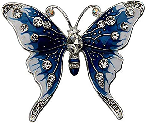 Vintage Women Colorful Pearl Crystal Zircon Butterfly Brooch Pin Accessories