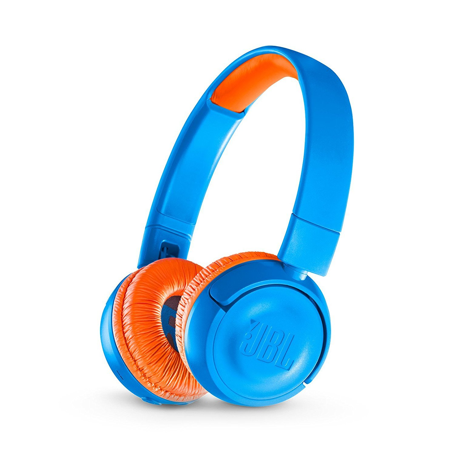 JBL JR 300BT Kids On-Ear Wireless Headphones Safe Sound Technology (Blue/Orange)