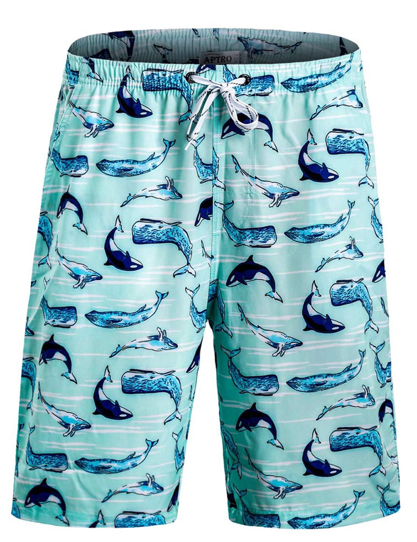 APTRO Men's Beach Shorts Quick Dry Shark Board Shorts