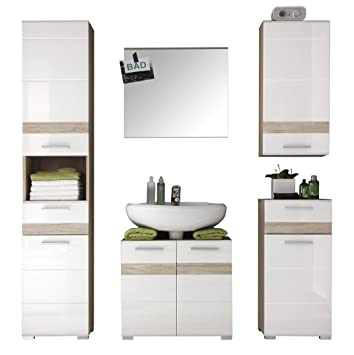 trendteam smart living badezimmer 5 teilige set kombination set one 159 x 182 x