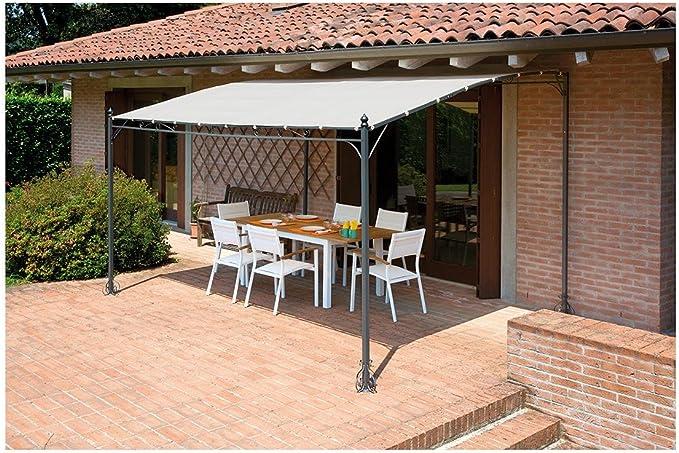Cenador Pergola de pared 4 x 3 metros: Amazon.es: Jardín