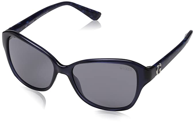 6521fb05855 Image Unavailable. Image not available for. Colour  GUESS Women s Acetate  Soft Cat-Eye Square Sunglasses ...