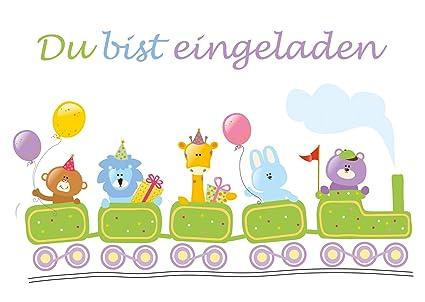 10 tarjetas de invitación para cumpleaños infantil - Diseño ...
