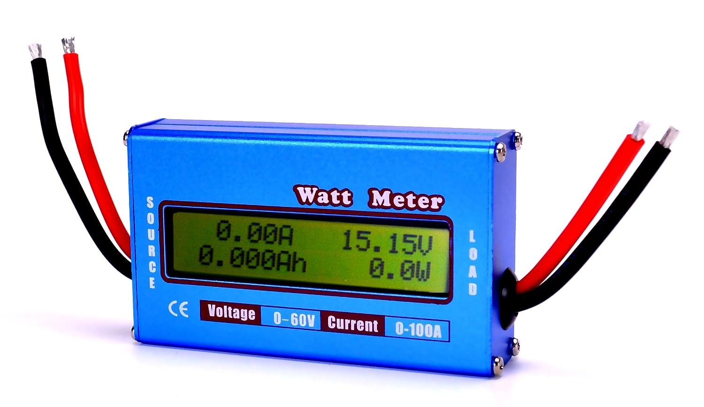 Rc Watt Meter Dc 60v 100a Power Analyzer Digital Lcd Balance Battery Trolling Motor Plug Wiring Diagram 3 Wire Connecter Voltage Checker Volt Amp