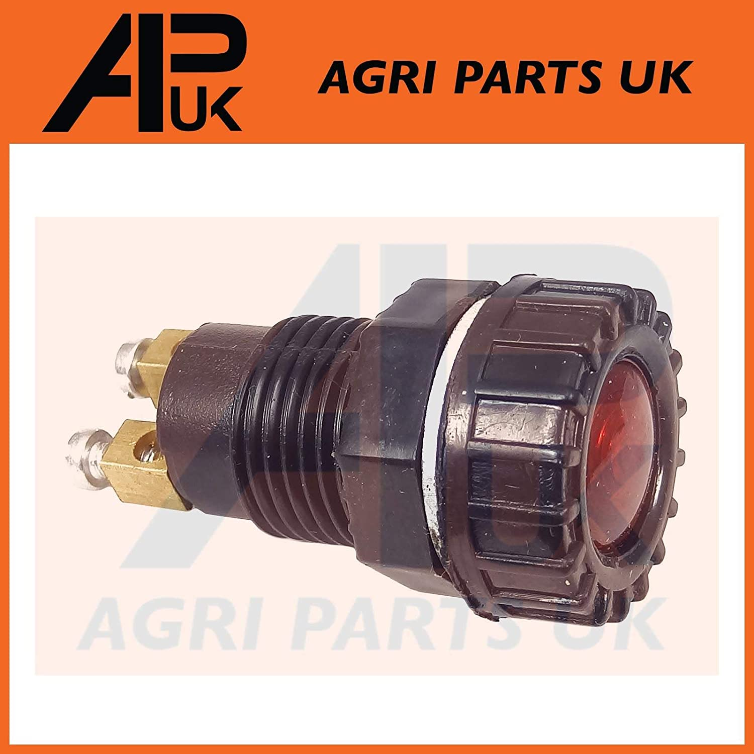 APUK Red Dash Charging Warning Light Lamp Compatible with Fordson Dexta /& Super Dexta Tractor