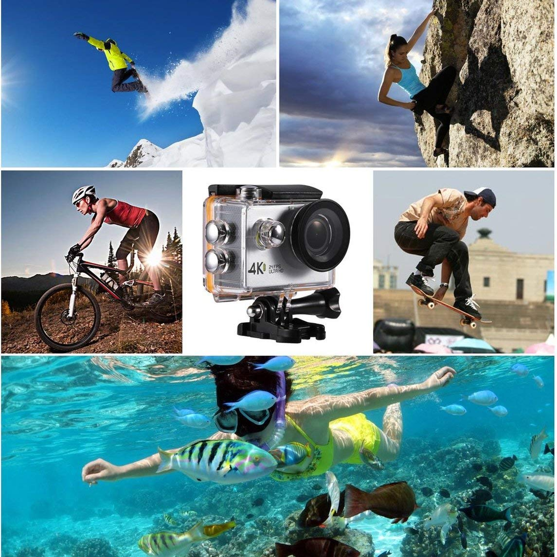 Footprintse G89 4K Ultra HD 1080P Mini Wasserdicht 30m Action Cam 2.0 Zoll LCD Display-Farbe  schwarz
