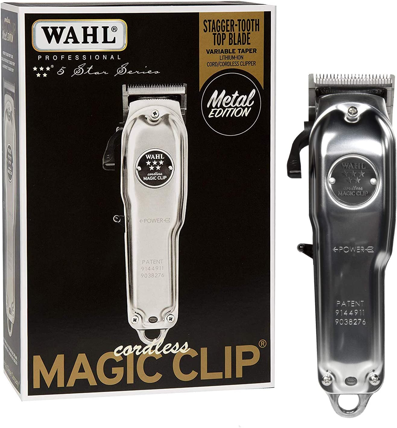Wahl Magic Clip Metal Edition #8509 Professional 5-Star Cordless - Great for Barbers & Stylists - 100 Years of Tradition: Amazon.es: Salud y cuidado personal