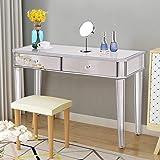 Amazon Com Convenience Concepts Gold Coast Mirrored Desk