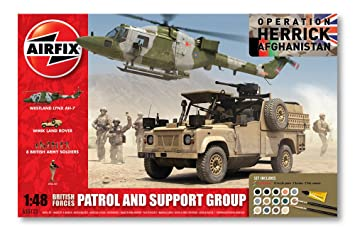 Airfix A50123 Operation Herrick British Forces - Patrol and Support Group  1:48 Scale Diorama Gift Set