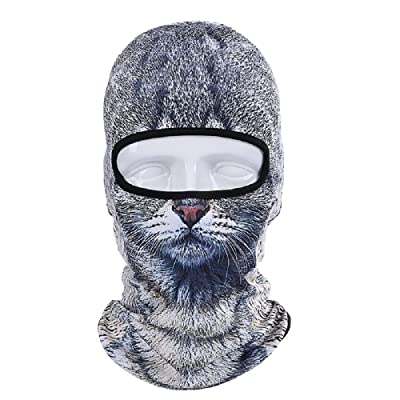 3D Animal Skull Full Face Mask Winter Motorcycle Bicycle Bike Hood Breathable Outdoor Sport Cosply Costume For Cycling Motorcycle Snowboard Hunting Ski Tiger Cat Dog Masks Hood Hat