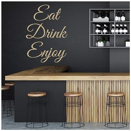 azutura Essen trinken Genießen Sie Wandtattoo Küche Zitate ...
