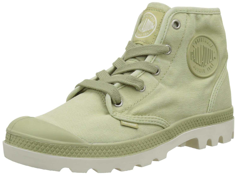 Palladium 92352, Zapatillas Altas de Tela Mujer 40 EU|Verde (Sage Green/Marshmallow)