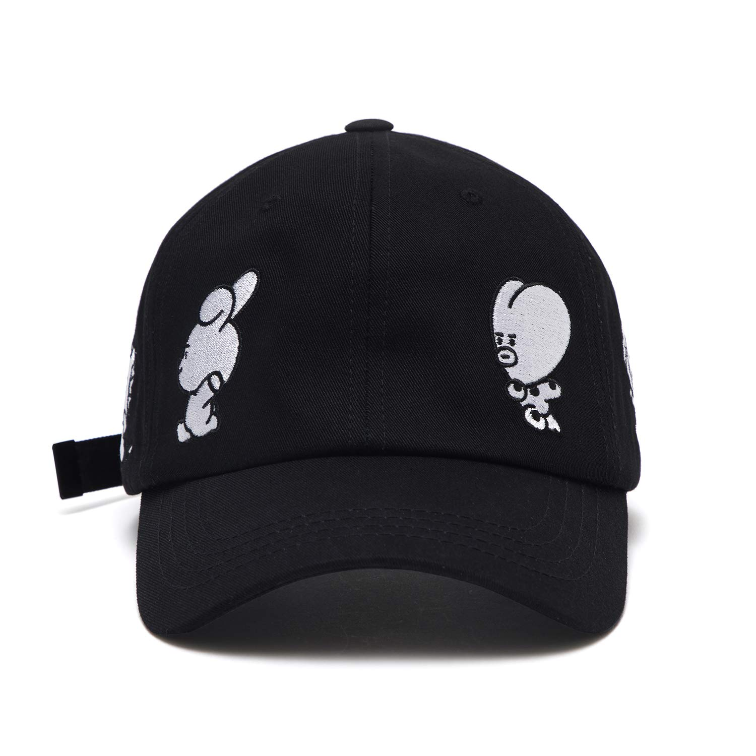 4c336299174 BT21 Official Merchandise by Line Friends - Black Baseball Cap Hats for Men  and Women at Amazon Men s Clothing store