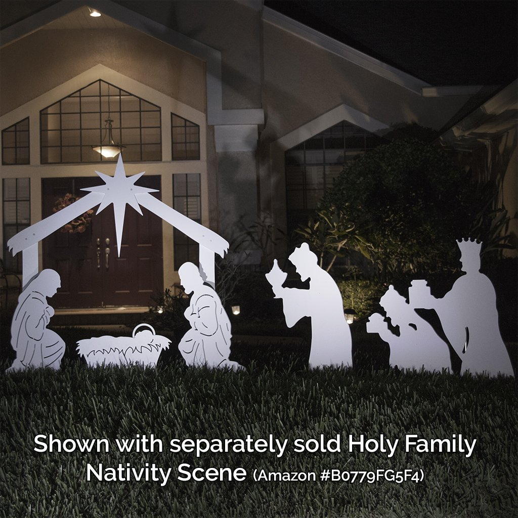 Teak Isle Christmas Outdoor 3-Wise Men Nativity Figures
