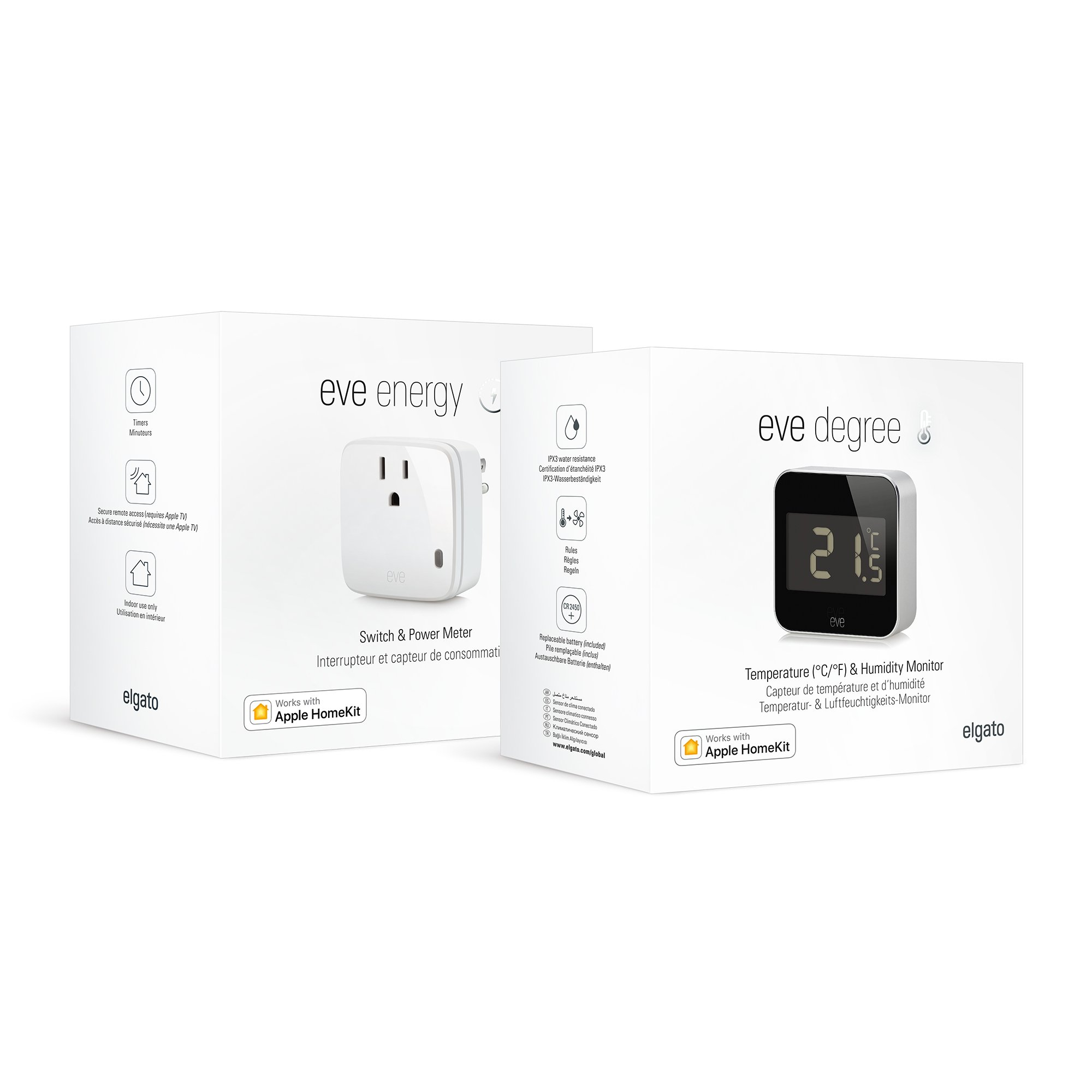 Air Care Kit: Elgato Eve Degree and Elgato Eve Energy, with Apple HomeKit technology, Bluetooth Low