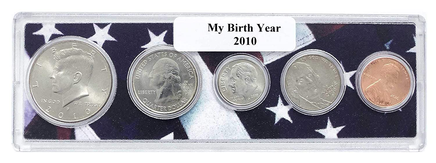 2010-5 Coin Birth Year Set in American Flag Holder Uncirculated
