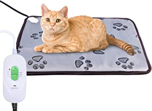 Hakkatronics Large Pet Heating Pad, Waterproof Dog Heating Mat with Chew Resistant Steel Cord, Auto Power Off, Soft Indoor Warming Pets Mat for Cats Dogs and Small Animals(23.6''x17.7'')