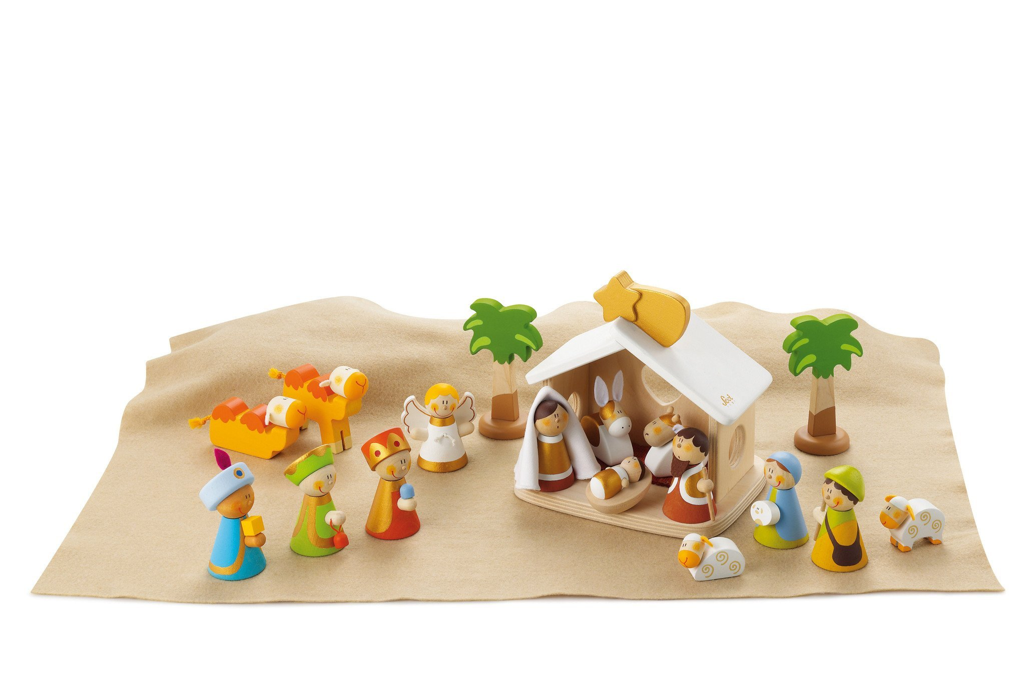 Sevi 1831 wooden toy - Christmas Decorations - Set Crib Complete - (code 82257) by Sevi