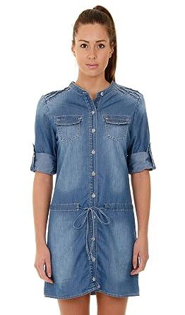 9416b8cf76ce Denim-Kleid mit 3 4 Ärmeln Frauen Sommerkleid Jeanskleid damen DRESS010-UK  16