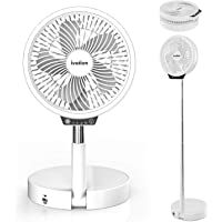 Ivation Rechargeable Personal Fan with LED Light   Compact Convertible Desk, Table & Pedestal Floor Fan with 39.5…
