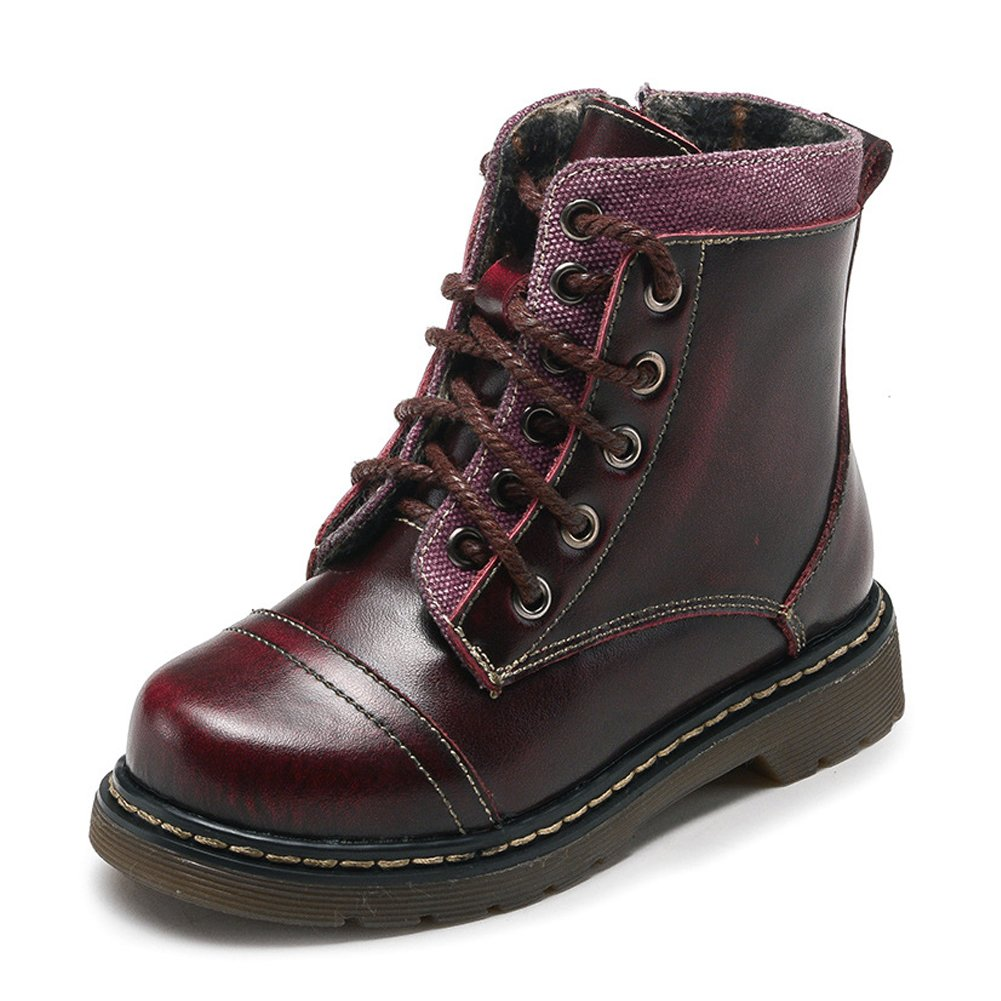 Boys Classic Lace-Up Waterproof Ankle Boot Red