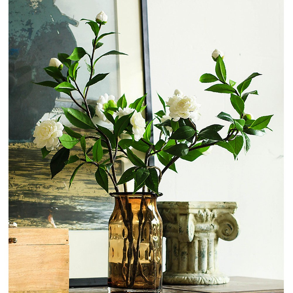 Silvercloud Trading Co Farmhouse Style Cotton Magnolia Stem Floral Display Filler Large 30 Magnolia Leaf /& Cotton Stem 1 Stem