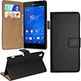 Sony Xperia XZ Case Cover - easyDigital® Sony Xperia XZ [Black] Premium Leather Wallet Stand Case / Cover / Pouch / Book type Case with Card Holder Slot & Screen Protector (Sony Xperia XZ)