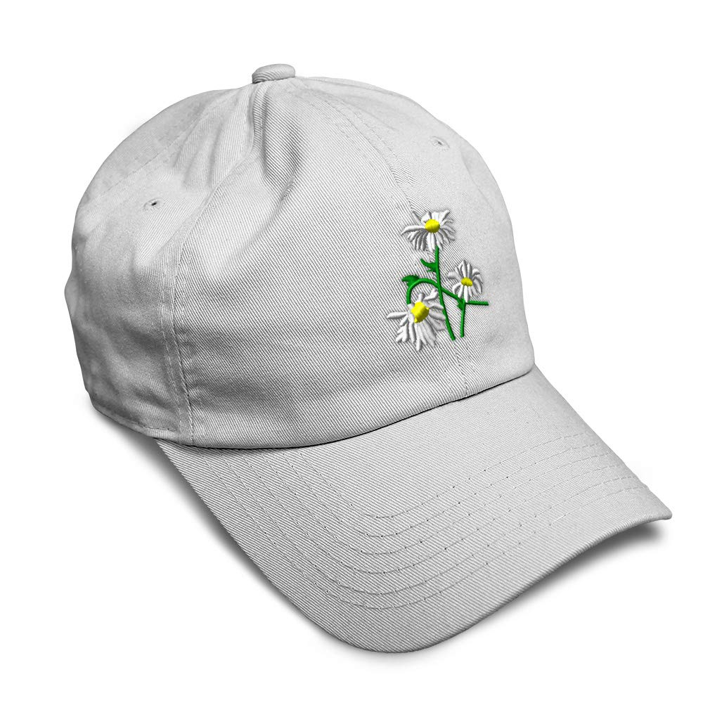 Custom Soft Baseball Cap Field Daisies Embroidery Dad Hats for Men /& Women
