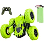Apsung RC Stunt Car,4WD Rechargeable 2.4Ghz Remote Control Car,Double Sided Rotating Tumbling 360°Flips Off Road High…