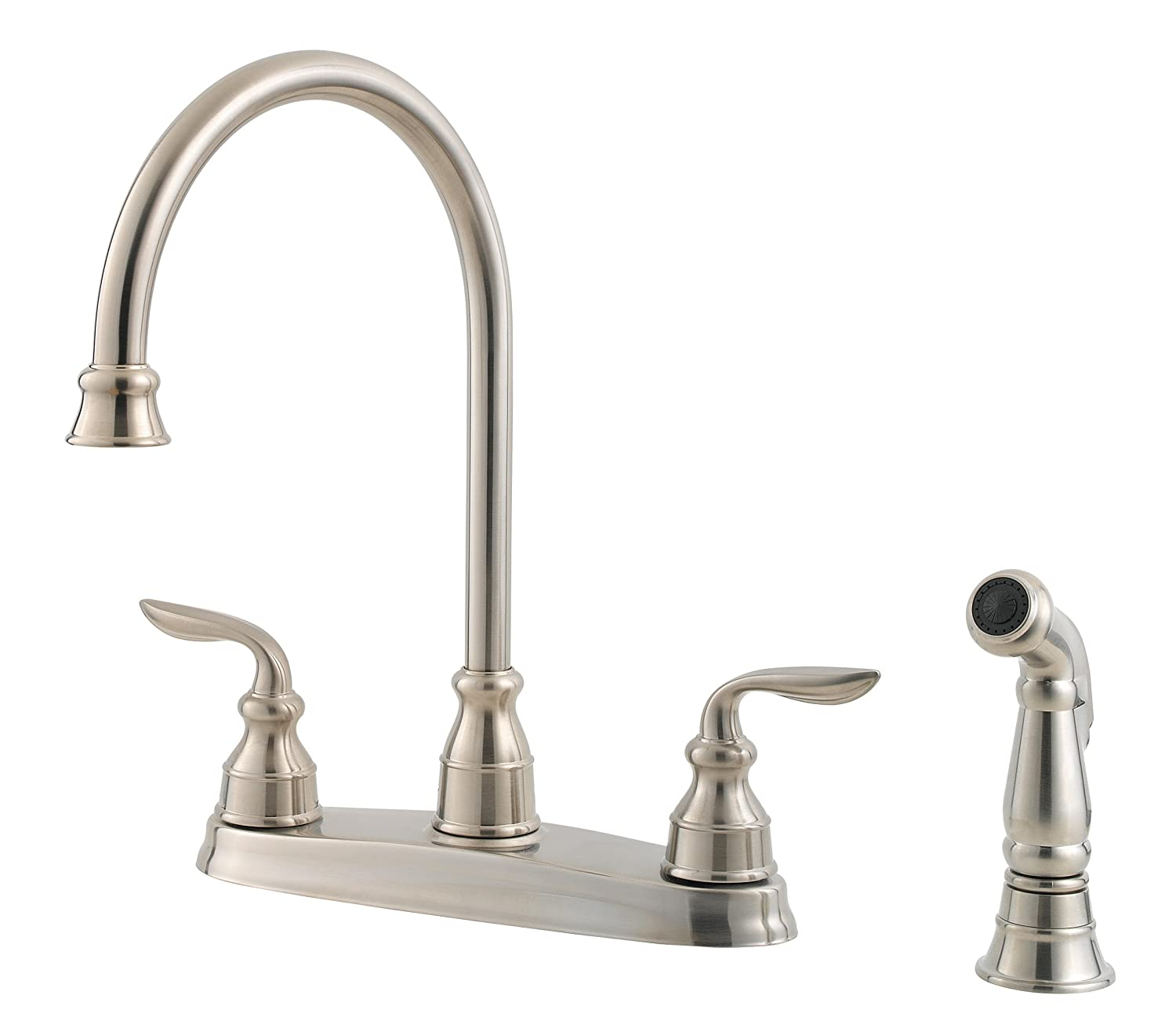 Pfister Lf 036 4cbs Avalon 2 Handle Kitchen Faucet With Side Spray