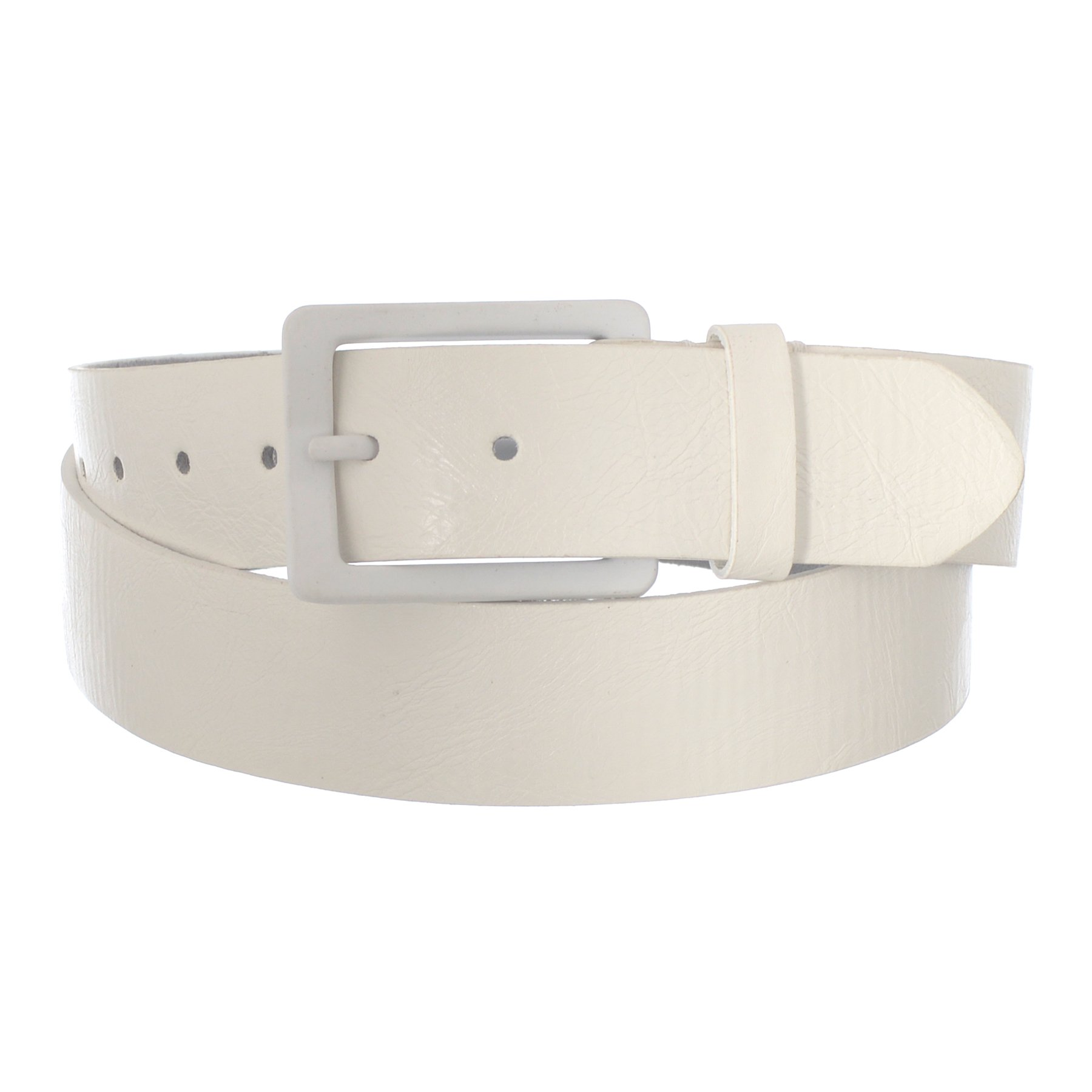 Xcessoire Men's Casual Fashion Belt with Single Prong Buckle (30, White) by Xcessoire (Image #1)