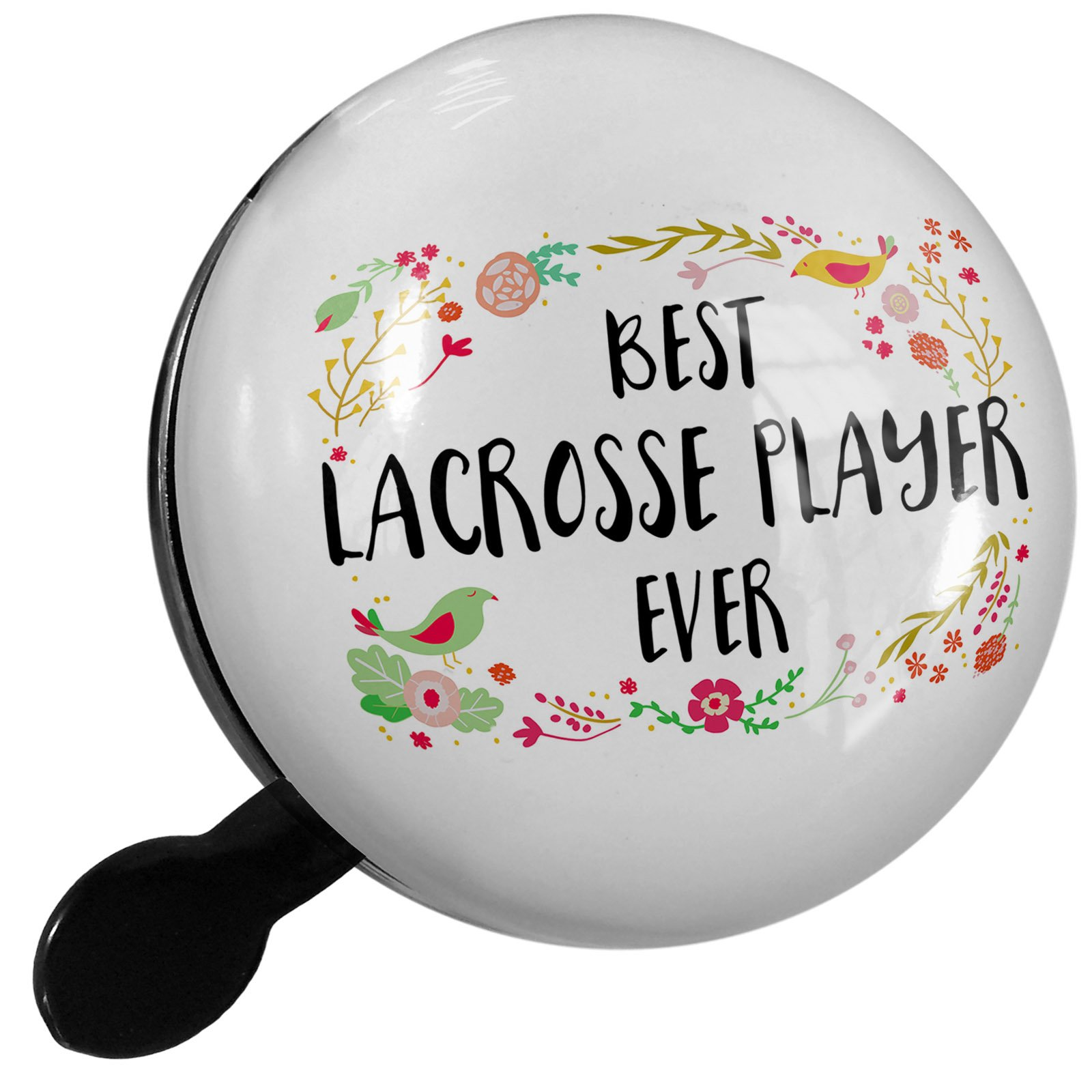 Small Bike Bell Happy Floral Border Lacrosse Player - NEONBLOND by NEONBLOND (Image #1)